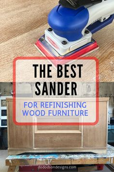 I sand a lot of furniture and recently I had the opportunity to try out one of the best sanders in the furniture refinishing industry. Diy Furniture Repair, Refinish Wood Furniture, Wood Refinishing, Diy Furniture Projects, Chalk Paint Furniture, Refurbished Furniture, Repurposed Furniture, Diy Dresser Makeover, Furniture Makeover