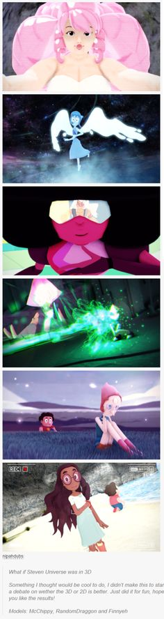 MAN i wish this was a video game.  it looks like one . tops off to who ever made this!!Steven Universe in 3D!