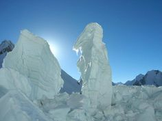 Glaciers Towers on the way to khurdopin Pass ( 5790 m ) Pakistan.