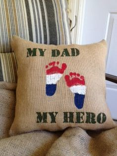 I think me and sawyer need to make zachary a pillow like this for fathers day!
