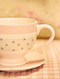 Pretty tea cup