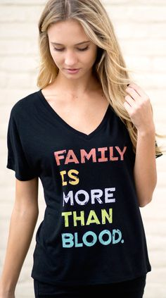 FAMILY is more than blood! Awesome shirt for an awesome cause! #Sevenly #Adoption