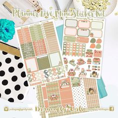 New!! Planner Love Kawaii Stickers | 3 Page Mini Kit | ECLP, MAMBI, Kikki K, Kate Spade, Filofax, Websters, Color Crush