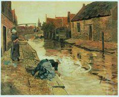 Frits Thaulow Volendam, 1878-1906 Christie's 1986-05-30, 126 #NoordHolland #Volendam