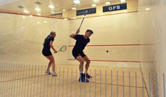 Royal Marines Squash - British Royal Marines Competed with US Marines on a Sports Tour of the eastern United States.