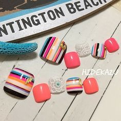 #pedicure #nailart #nails #art #summernails Pretty Toe Nails, Cute Toe Nails, Toe Nail Art, Love Nails, Diy Nails, Cute Pedicure Designs, Cute Nail Art Designs, Toe Nail Designs, Feet Nail Design