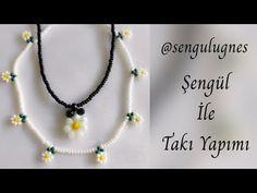 Beaded Rings, Beaded Necklace, Beaded Jewelry, Beading Tutorials, Daisy, Stitch, Beads, Crochet, Youtube