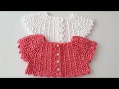 Crochet Yoke, Crochet Baby Cardigan, Crochet Baby Boots, Crochet Mandala Pattern, Crochet Girls, Teal Scarf, Flower Model, Crochet Videos, Baby Sweaters