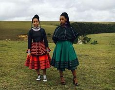 Traditional Xhosa clothing made from cotton wool glass beads shell buttons and ochre pigment is the speciality of this. African Fashion Traditional, South African Fashion, African Inspired Fashion, African Print Fashion, Traditional Outfits, Traditional Weddings, Xhosa Attire, African Attire, African Wear
