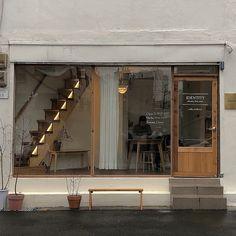 soft aesthetic tones of coffee Cafe Shop Design, Cafe Interior Design, Korean Coffee Shop, Korean Cafe, Coffee Shop Aesthetic, Small Coffee Shop, Café Restaurant, Shop Facade, Cafe Concept