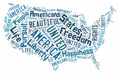 The United States Of America Map Art.