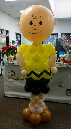 Charlie Brown Balloon Art - Southern Outdoor Cinema expert tip for theming and enhancing a movie night at school.