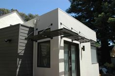 Contemporary Exterior : Window Overhang, Canopy Window, Brise-soleil, Sun Shade, Roofed Trellis, Sun Screen