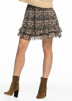 Maison Scotch Nederdel print 102022 Ruffled Skirt - combo B – Acorns