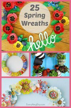 25 Spring Wreaths {DIY Home Decor} - EverythingEtsy.com