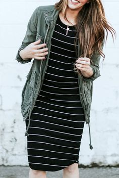 Striped Summer Tee Dresses in 8 Styles!