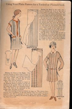 images from a sewing pamphlet from 1928 called Easy Ways to Pretty Frocks