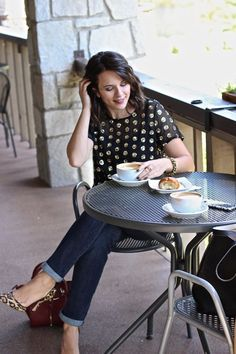 sequins and leopard and a cup of coffee via @mystylevita