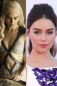 What the 'Game of Thrones' Cast Looks Like in Real Life - Daenerys Targaryen / Emilia Clarke #GoT #gameofthrones