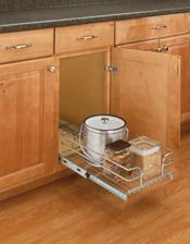 Buy the Rev-A-Shelf Chrome Direct. Shop for the Rev-A-Shelf Chrome Series Wide by Deep Pull Out Base Cabinet Wire Basket Organizer and save. Basket Organization, Kitchen Cabinet Organization, Kitchen Storage, Cabinet Organizers, Kitchen Organizers, Shelf Organizer, Door Storage, Storage Basket, Garage Storage