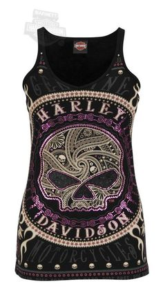 Harley-Davidson Womens Gates Of Skulls Rhinestones and Foil V-Neck Black Tank! Sizes available are 1X Large and 2X Large! $19.99 http://www.amazon.com/gp/product/B00D6V178Y/ref=as_li_qf_sp_asin_il_tl?ie=UTF8&camp=1789&creative=9325&creativeASIN=B00D6V178Y&linkCode=as2&tag=technandmusic-20&linkId=OEF46GT4WZRZVO3G