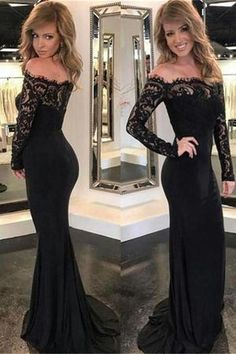 Black Lace Prom Dresses, Prom Dresses For Cheap, Prom Dresses Lace, Black Mermaid Prom Dresses, Prom Dresses With Sleeves Prom Dresses 2019 Long Sleeve Evening Dresses, Prom Dresses Long With Sleeves, Black Prom Dresses, Mermaid Evening Dresses, Lace Dress Black, Cheap Prom Dresses, Prom Party Dresses, Tight Dresses, Evening Gowns