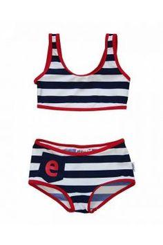 Bikini Niña Marinero Felicia Bikinis, Swimwear, Retro, Fashion, Scandinavian Fashion, Shopping, Kids Fashion, Navy Stripes, Blue Stripes