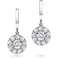 Our classic Hearts On Fire Fulfillment studs suspended on a drop is just the right amount of dangle, sparkle and movement in a diamond drop earring. Starting at $6,000