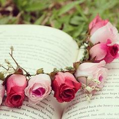 a book and roses...perfect