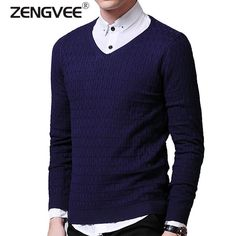 Now available on our store: Men V Neck Sweate... Check it out here! http://toutabay.com/products/men-v-neck-sweater-long-sleeve?utm_campaign=social_autopilot&utm_source=pin&utm_medium=pin