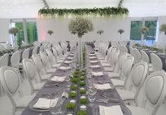 Modern wedding reception marquee