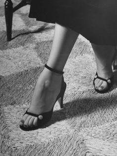 Naked Sandal by Julianelli Has Sparse Velvet Straps That Give It a Barefoot Look Nina Leen