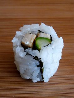 Chicken + Asparagus Sushi. (Chicken in sushi, not sure about that)
