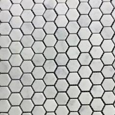 Polished-Bianco-Carrara-25mm-Hexagon-Mosaic-Marble-Mosaic-Sheet