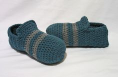 Crochet Mens Slippers Mens House Slippers by DeesCozyCreations