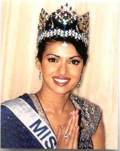 Miss World 2000 - Priyanka Chopra -Priyanka, a major Bollywood star, has worked for many social-welfare programmes and is active in raising the profile of charity work in India. Priyanka is now concentrating on breaking into the American Scene with her music, releasing her debut single In My City late in 2012.