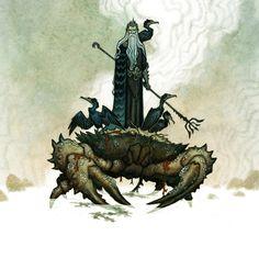 Njord the god of the sea by Johan Egerkrans
