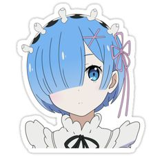 Kawaii Stickers, Anime Stickers, Cool Stickers, Printable Stickers, Chibi Anime, Kawaii Anime, Lucky Puppy, Ram And Rem, Fan Art Anime