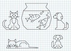 Blackwork Patterns, Blackwork Embroidery, Cross Stitch Embroidery, Embroidery Patterns, Cross Stitch Patterns, Graph Paper Drawings, Graph Paper Art, Easy Drawings, Drawing For Kids
