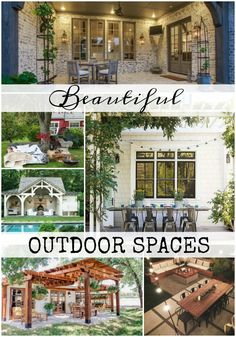 Create your own backyard paradise with inspiration from these Beautiful Outdoor Spaces. You should be able to enjoy all those lazy summer days.