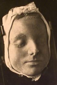Death mask of Mary, Queen Of Scots, made not long after her execution.