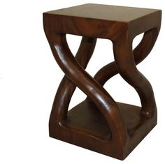 Urban Designs Hand-Carved Indonesian Trembesi Wood Stool - modern - Bar Stools And Counter Stools - ecWorld Enterprises, Inc.