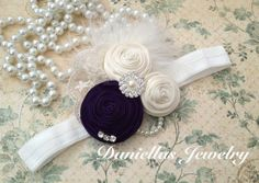 Vintage inspired deep purple and Ivory by Daniellasjewels on Etsy, $16.95