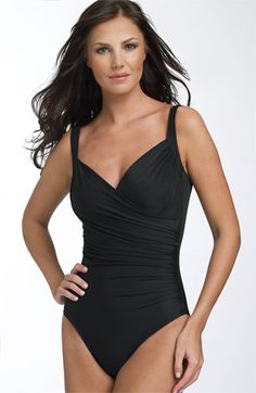 Dear Inventor of the Miraclesuit,  You are a genius and I want to thank you from the bottom of my heart.  The Miraclesuit bathing suit with it's lined underwire cups and spandex in all the right places is truely a miracle.      Love, A Grateful Old Woman :-)