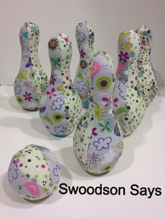 DIY Fabric Bowling Set - Swoodson Says by swoodsonsays, via Flickr