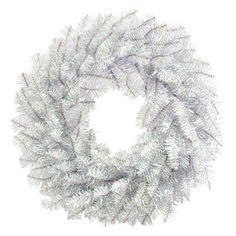 Picture of 24in Silver Tinsel Wreath