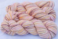 "a time to dye ""Threshing Floor Love"" on sock yarn. So lovely."