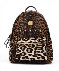 MCM Leopard Backpack.... I want this
