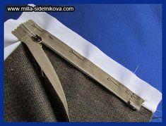 Молния без шва. Zipper Tutorial, Tie Clip, Sewing, Fashion, Dressmaking, Blouse, Moda, Couture, Fashion Styles