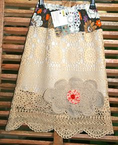 doily skirt size 34 years by funkymonkie on Etsy, $28.00